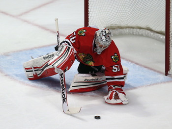 Corey Crawford's playoff performance has been stellar this series.
