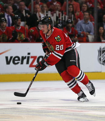 Brandon Saad's exceptional regular-season play has yet to be seen in the playoffs.