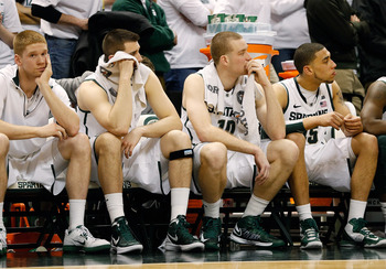 Russell Byrd (far left) just hasn't found his way with the Spartans. He's been dealt a bad hand, says Spartans coach Tom Izzo.