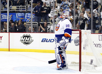 Nabokov has made some big saves for the Islanders.