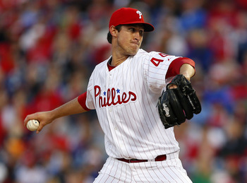 PHILADELPHIA, PA - MAY 3: Pitcher Jonathan Pettibone #44 of the Philadelphia Phillies delivers a pitch against the Miami Marlins in a MLB baseball game on May 3, 2013 at Citizens Bank Park in Philadelphia, Pennsylvania. (Photo by Rich Schultz/Getty Images