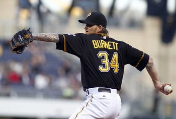 A.J. Burnett leads a formidable Pirates pitching rotation.