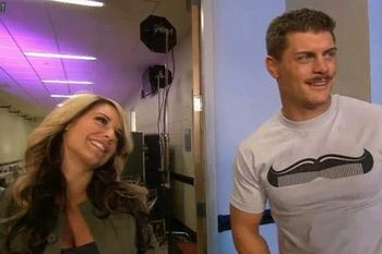 Who remembers when Cody and Kaitlyn were flirting on WWE TV? (photo credit: cagesideseats.com)