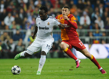 Essien in action for Real Madrid against Galatasaray this season