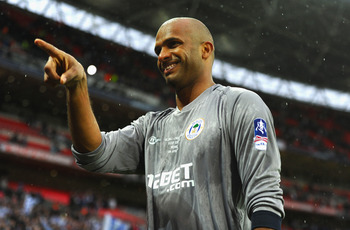 Al-Habsi was all smiles after the FA Cup semifinal victory over Millwall.