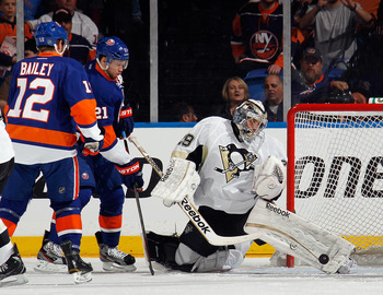 Marc-Andre Fleury allowed six goals on 24 shots on Tuesday.
