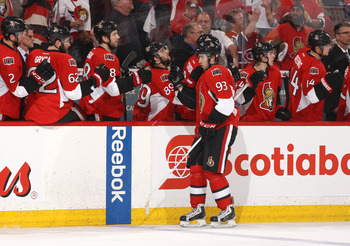 Mika Zibanejad got the Senators rolling with a controversial goal.