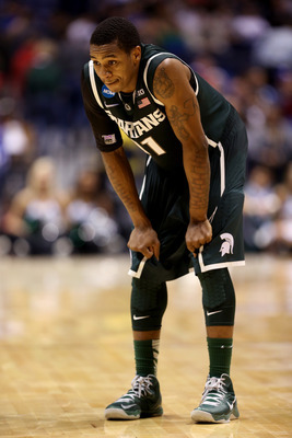 Is Keith Appling in danger of losing minutes? Michigan State has a young and hungry group of guards vying for playing time.
