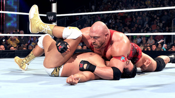 Ryback soundly defeats Alberto Del Rio. (Courtesy of WWE.com)