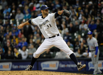 Brewers reliever Burke Badenhop has given up a .667 BAA in high-leverage situations thus far.