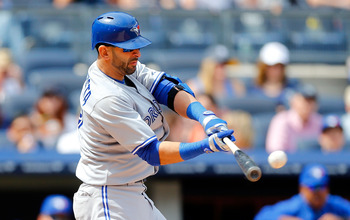 Jose Bautista is hitting just .182 with runners in scoring position.