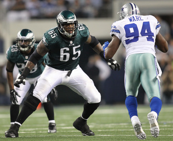 Dunlap (65) has the most experience of all of the options at left tackle.