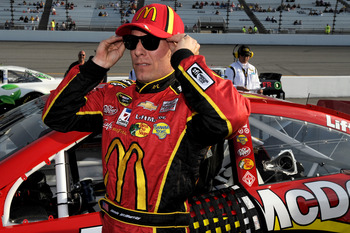RICHMOND, VA - APRIL 26:  Jamie McMurray, driver of the #1 McDonald's Chevrolet, stands on the grid during qualifying for the NASCAR Sprint Cup Series Toyota Owners 400 at Richmond International Raceway on April 26, 2013 in Richmond, Virginia.  (Photo by