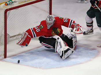 Corey Crawford did his job for the Blackhawks in Round 1.