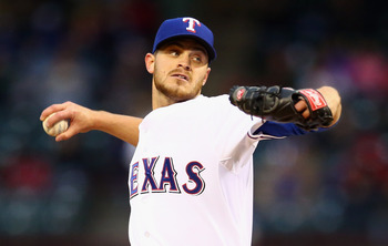 Justin Grimm has taken hold of back of Rangers rotation.