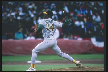 Stewart's no-hitter was the first of two on June 29, 1990.