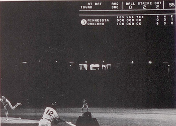 Vida Blue no-hits Minnesota (courtesy: AthleticsNation.com)