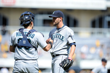 Wilhelmsen and Montero greeting has been a familiar site in Seattle victories
