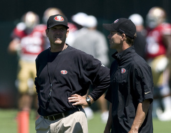 Have GM Trent Baalke (pictured) and Jim Harbaugh (pictured) built the NFL's most talented team?