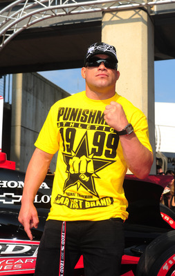 May 29, 2011; Indianapolis, IN, USA; MMA fighter Tito Ortiz in attendance during the 95th running of the Indianapolis 500 at the Indianapolis Motor Speedway. Mandatory Credit: Mark J. Rebilas-USA TODAY Sports