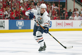 Chris Pronger was one of the main reasons the Oilers advanced as far as they did during the 2005-2006 playoffs.