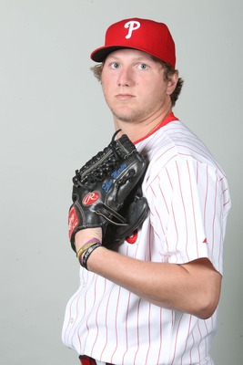 February 18, 2013; Clearwater, FL, USA; Philadelphia Phillies relief pitcher Ethan Martin (70) poses for a picture during photo day at Bright House Networks Field. Mandatory Credit: Kim Klement-USA TODAY Sports