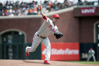 May 8, 2013; San Francisco, CA, USA; Philadelphia Phillies starting pitcher Jonathan Pettibone (44) pitches against the San Francisco Giants during the sixth inning at AT&T Park. Mandatory Credit: Ed Szczepanski-USA TODAY Sports