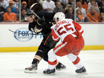 Kronwall did a good job shutting down Corey Perry.