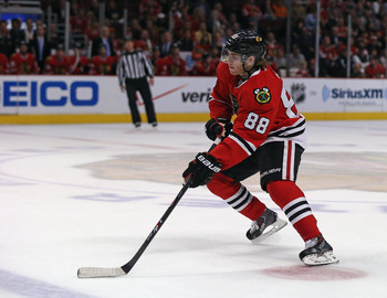 Kane needs to score to help Chicago beat Detroit.