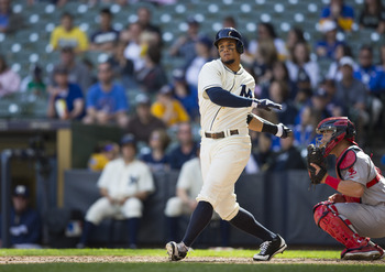 Carlos Gomez is hitting his peak and playing like the best player in the NL.