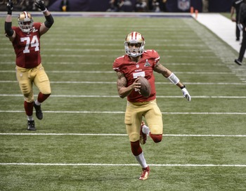Colin Kaepernick is also an excellent runner.