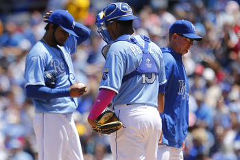 Ervin Santana (left) gave up back-to-back homers against NY.