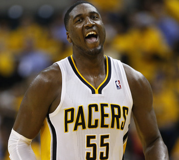 Hibbert has been a monster for Indiana.