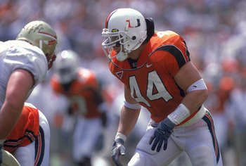 Dan Morgan was one of the scariest looking linebackers to play for Miami.