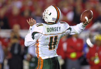 Ken Dorsey is the greatest quarterback in Miami history, and the Hurricanes have had many great quarterbacks.