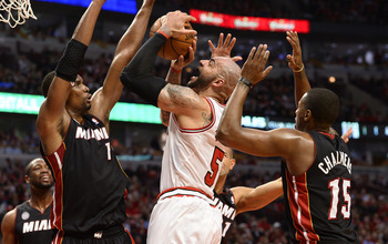 Miami's defense is leaving the Bulls with little room, or hope.