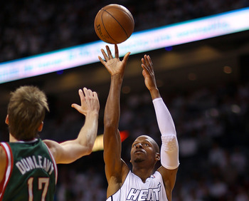 Ray Allen plays into the Heat's pace and space style.