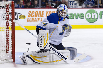 Young Jake Allen added more complications to a crowded St. Louis crease.
