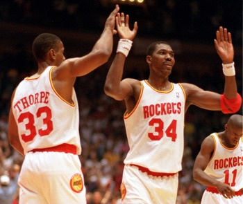 Houston Rockets' Hakeem Olajuwon