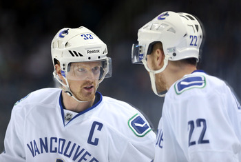 The Sedins had a terrible playoff series against San Jose.