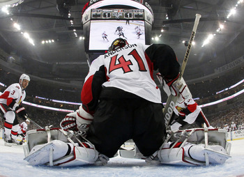 The Pittsburgh Penguins put pucks by Craig Anderson with the man advantage.
