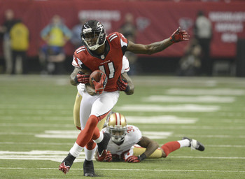 Julio Jones is the Falcons' most dangerous receiver.