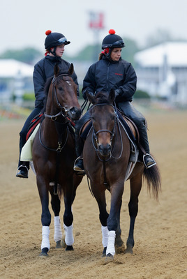 Orb on track preparing for the Preakness