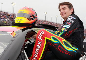 He's older now, but Jeff Gordon still wishes he could climb into his Jurrasic Park All-Star car one more time.