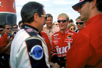 Dad was happy, too, when Dale Earnhardt Jr. won the 2000 race.