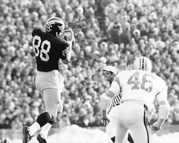 Don Moorhead and Jim Mandich helped the Wolverines topple the mighty Ohio State Buckeyes in 1969. Photo courtesy of Bentley.umich.edu.