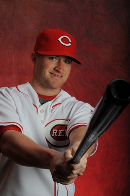 GOODYEAR, AZ - FEBRUARY 16:   Tucker Barnhart #68 of the Cincinnati Reds poses during MLB photo day on  February 16, 2013 at the Goodyear Ballpark in Goodyear, Arizona. (Photo by Rich Pilling/Getty Images)