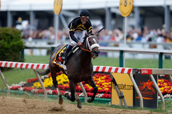 Gary Stevens and Oxbow win the Preakness