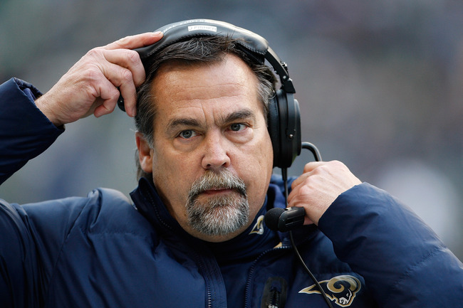 SEATTLE, WA - DECEMBER 30:  Jeff Fisher head coach of the St. Louis Rams in the second half against the Seattle Seahawks at CenturyLink Field on December 30, 2012 in Seattle, Washington.  (Photo by Kevin Casey/Getty Images)