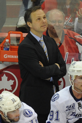Jon Cooper is preparing for his first full season behind the bench of the Lightning.
